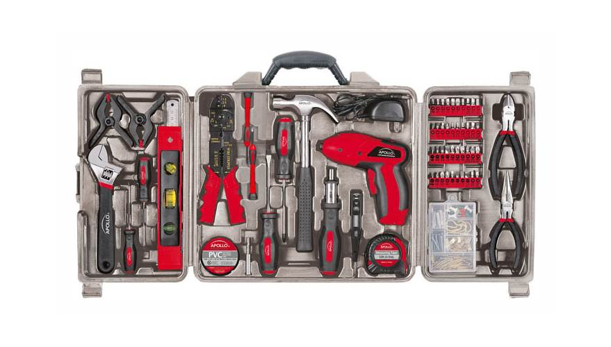 161-Piece Kit with 4.8V Screwdriver by Apollo Tools