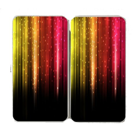 Sparkle Rainbow Falls Logo - White Taiga Hinge Wallet Clutch