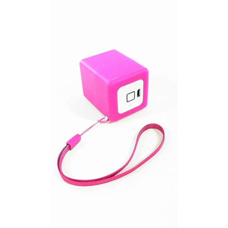 Quikcell Sound Cube Bluetooth Speaker Universal Music Portable Pink cscube460pnk ()