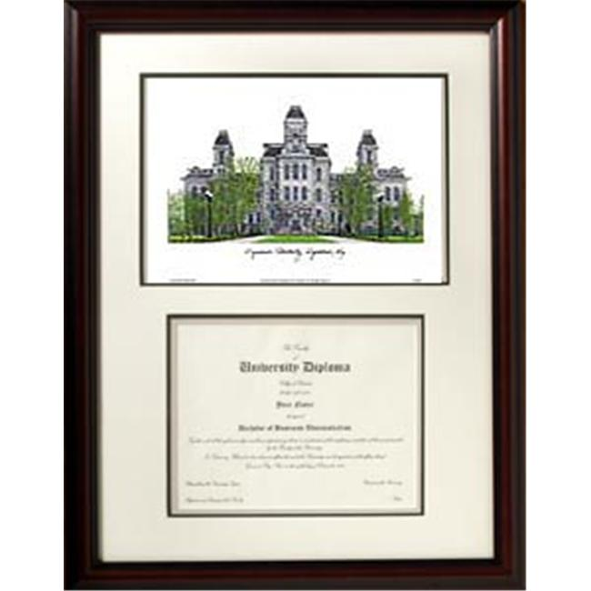 Campus Images NY999V Syracuse University Scholar Lithograph Frame