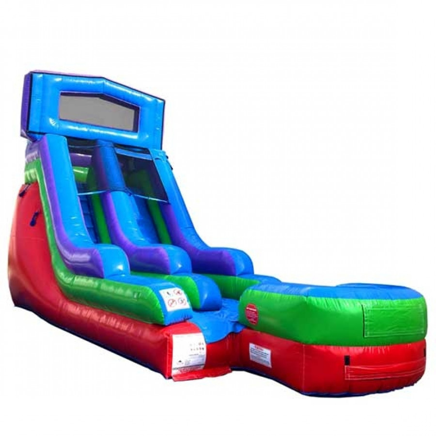 Pogo 15' Retro Commercial Kids Jumper Inflatable Waterslide with Blower by Pogo Bounce House