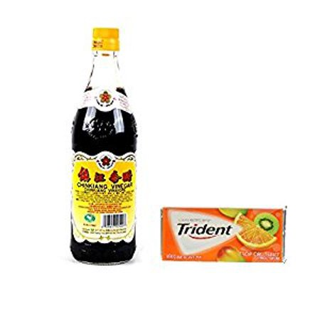Gold Plum Chinkiang Vinegar 18.6 fl oz plus a Free Gift Trident Gum  Tropical Twist Flavor In Frustration Free Packaging ()