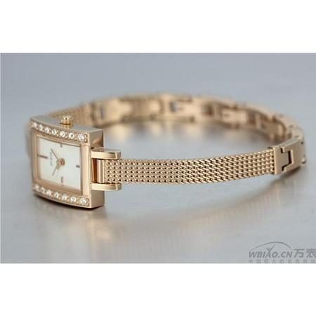 Guess Women's Rose Gold -Tone w/ Crystal Accent Rectangular Dress Watch - W0134L4 (Rectangular Watches)