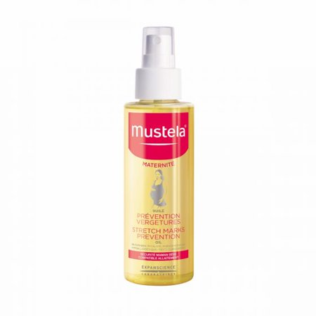 Mustela Maternity Stretch Marks Prevention Oil, Pregnancy Skin Care Oil, with Natural Avocado Oil, 3.54 (Striae Stretch Mark)