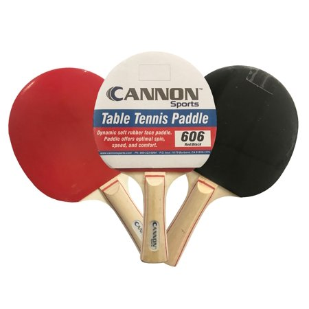 Cannon Sports Table Tennis Paddle Soft Rubber Face, Red/Black