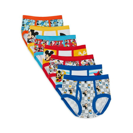 Toddler Boys 7 Pack Underwear Mickey Mouse by Handcraft 4T