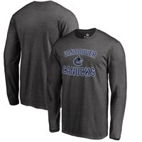 Vancouver Canucks Fanatics Branded Victory Arch Long Sleeve T-Shirt - Heathered Gray