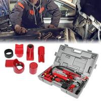 Hilitand 1 Set 4 Ton Hydraulic Power Car Van Jack Body Power Repair Kit Tools Red,Hydraulic Jack, Hydraulic Power Kit