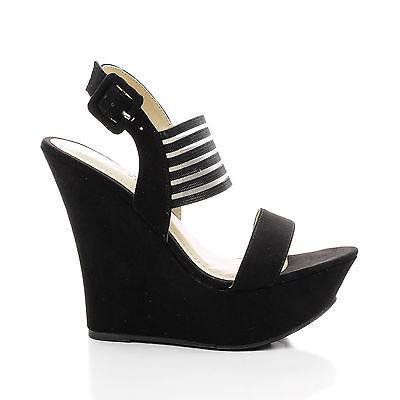 Pamela73 by Bamboo, Sling back Mesh Strap Platform Wedge Dress Sandals - Mesh Wedge Sandals