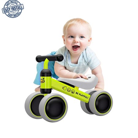Baby's First Balance Bike&Walker - Baby Balance Bikes Bicycle Children Walker Toddler Bike 10-24 Months Toys for 1 Year Old No Pedal Infant 4 Wheels First Birthday Gift Bike Balance Bike for