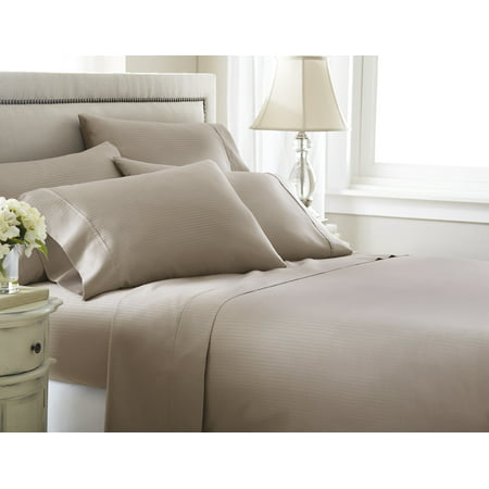 Image of 800 thread count Cotton Rich Stripe 6 Pieces Sheet Set