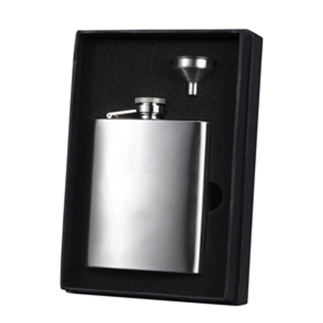 Barbados Stainless Steel Flask & Funnel Gift Set