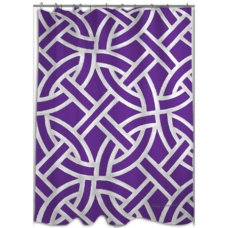MOD Home Inner Circles Purple Shower Curtain