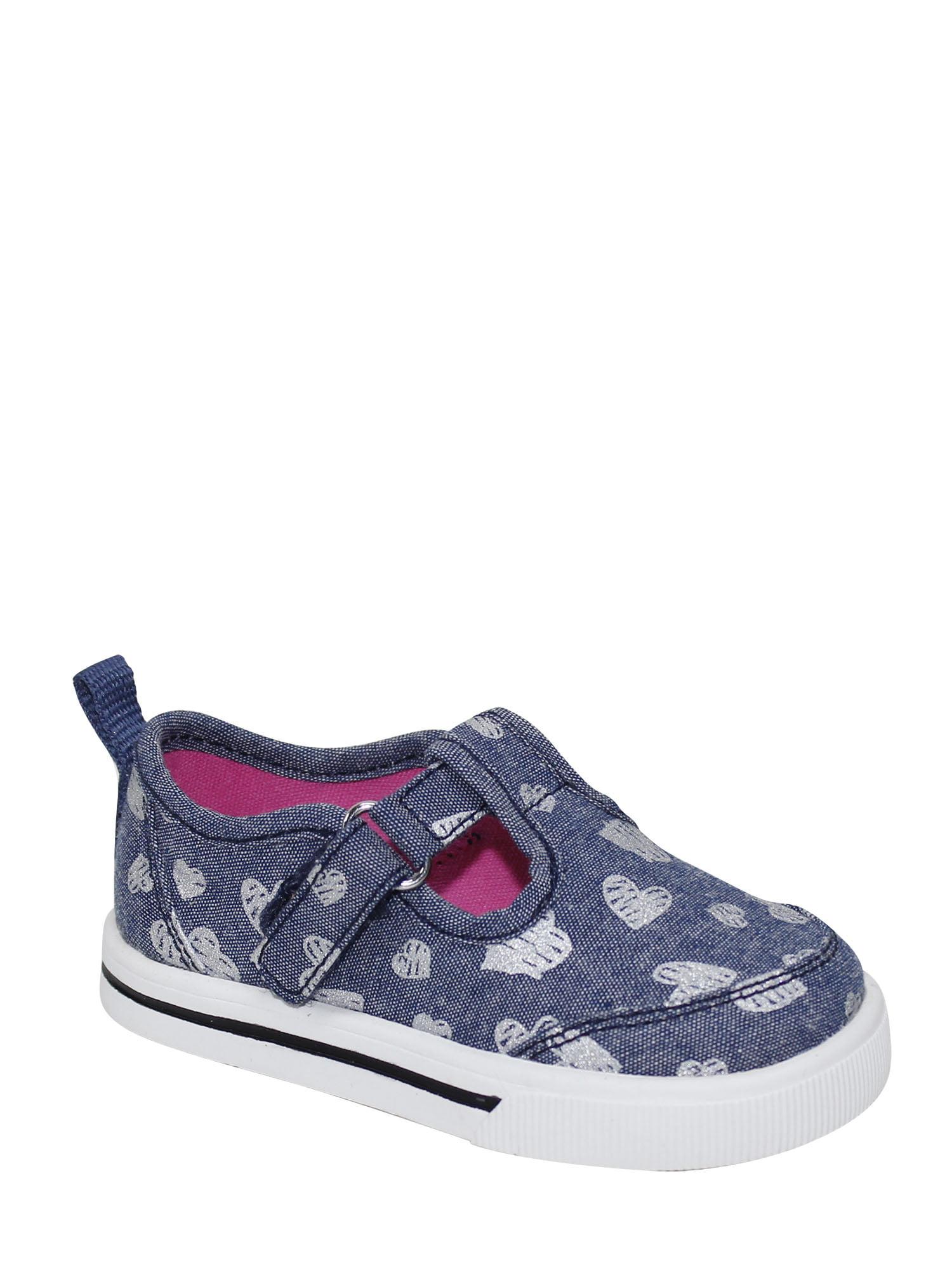 Wonder Nation Infant Girl Hear T-strap Casual Shoes