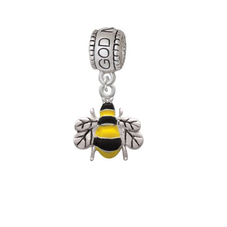 Enamel Bee - God Mother Charm Bead - Bee Charms