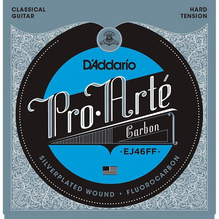 D'Addario Pro-Arte Carbon with Dynacore Basses - Hard Tension Classical Guitar Strings Daddario Chrome Bass Strings