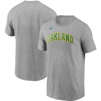 Oakland Athletics Nike Cooperstown Collection Wordmark T-Shirt - Heathered Gray