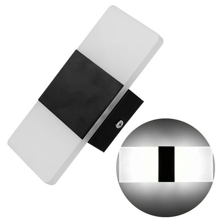 Modern Fashion Fixture Up Down Cube Night Lights LED Wall Lights Indoor Sconce Lighting Lamp(Black & White (Fashion Fixtures)