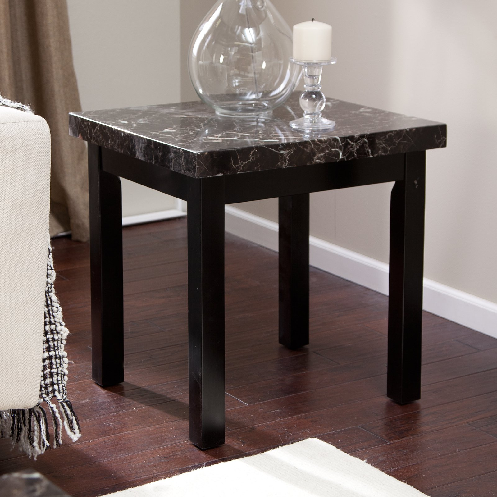 Galassia Faux Marble End Table Walmart