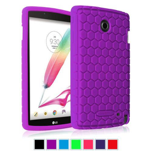 LG G Pad F 8.0 AT&T 4G LTE V495 / T-Mobile V496 / US Cellular UK495 Silicone Case - Fintie Shock Proof Cover, Purple