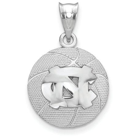 Logoart Sterling Silver the University Of North Carolina Basketball Pendant