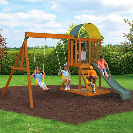 KidKraft Ainsley Wooden Swing - Playground Swing Set Toys
