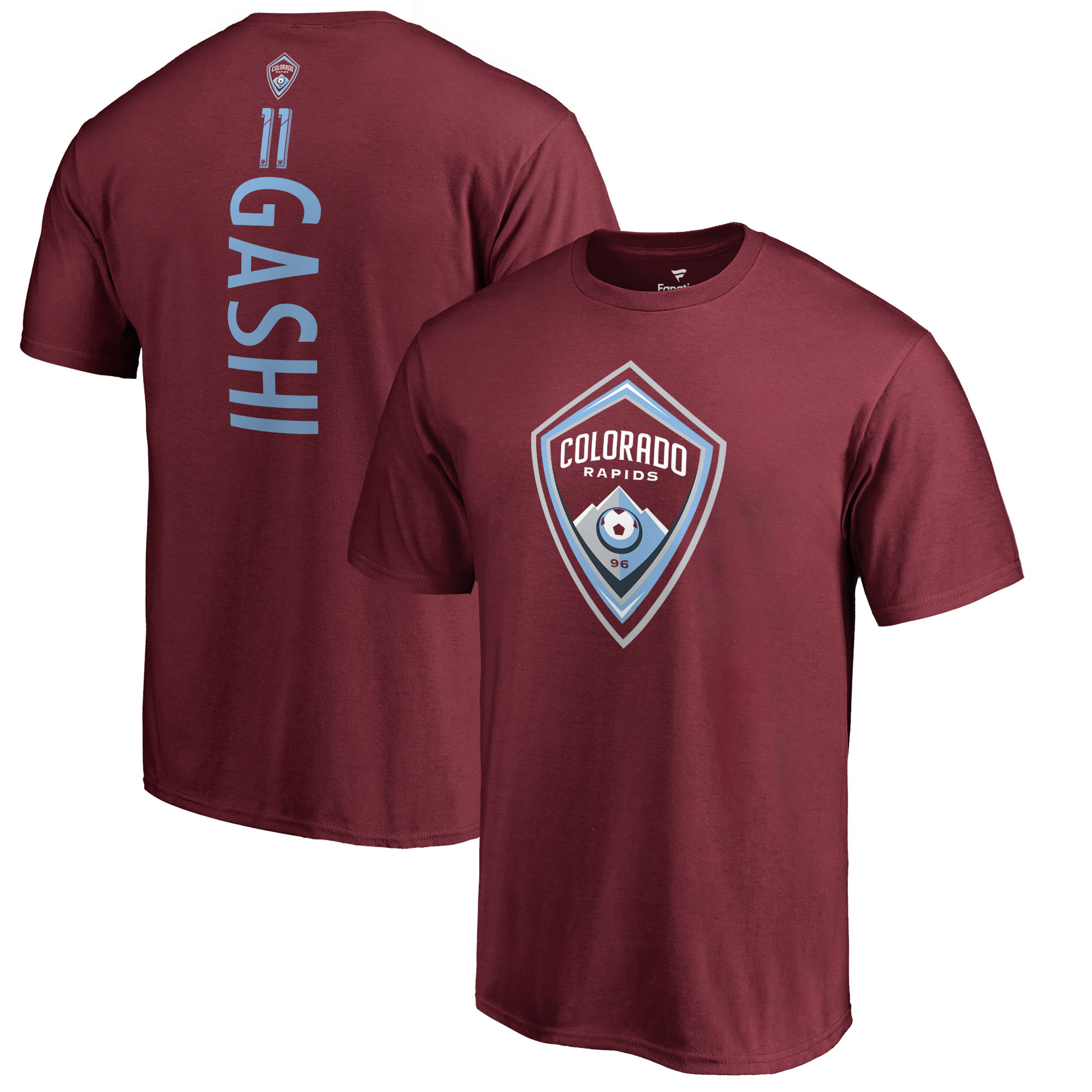 Shkelzen Gashi Colorado Rapids Fanatics Branded Backer Name & Number T-Shirt - Burgundy