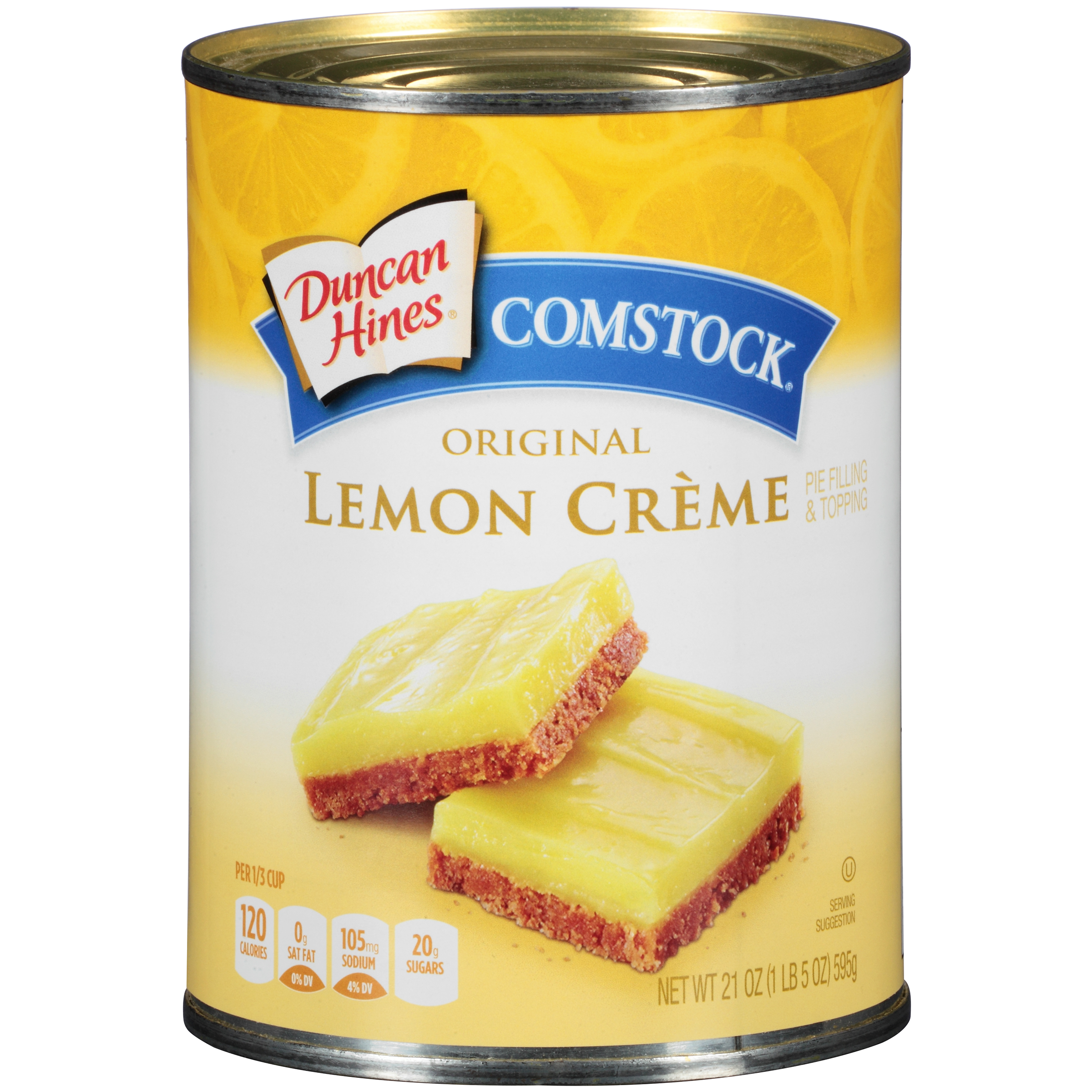 Duncan Hines® Comstock® Original Lemon Creme Pie Filling & Topping 21 oz. Can