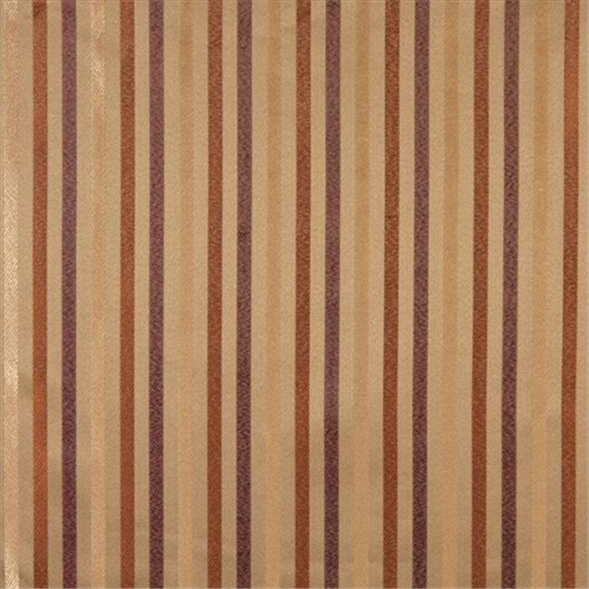 Designer Fabrics F566 54 in. Wide Olive Green, Orange, Ivory And Burgundy, Striped Damask Upholstery And Drapery Grade Fabric
