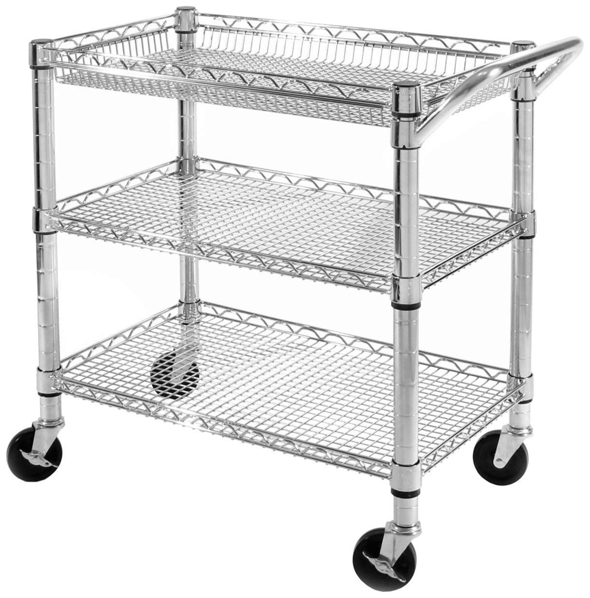 3-Tier Heavy-Duty Commercial-Grade Utility Cart by Seville Classics