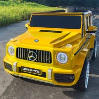 Uenjoy 12V Licensed Mercedes-Benz G63 Kids Ride On Car Electric Cars Motorized Vehicles for Girls,Boys, with Remote Control, Music, Horn, Spring Suspension, Safety Lock, LED Light,AUX