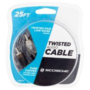 Scosche A25c4sd 25 Foot. Twisted Car Stereo Audio Cable Gray White