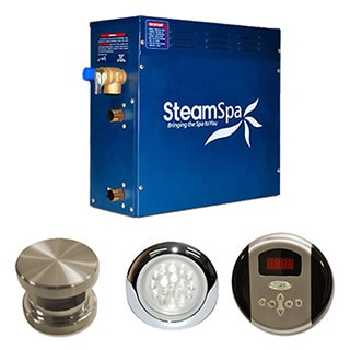 SteamSpa  Indulgence 6kw Steam Generator Package in Brushed Nickel