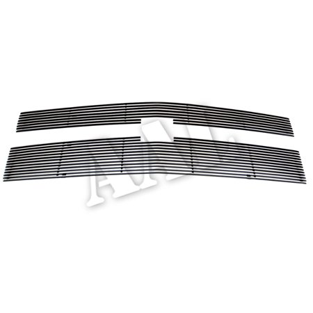 AAL BOLT ON / BOLT OVER BILLET GRILLE / GRILL INSERT For 2014 2015 CHEVY SILVERADO 1500 2PCS BOLTON UPPER 8/13 BARS (For fit Z71 models) Bolt Over Billet Grille Insert