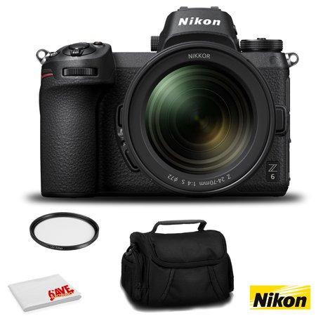 Nikon Z 6 Mirrorless FX-Format Digital Camera with 24-70mm Lens - Bundle with 72mm UV Filter and MORE - Intl Version