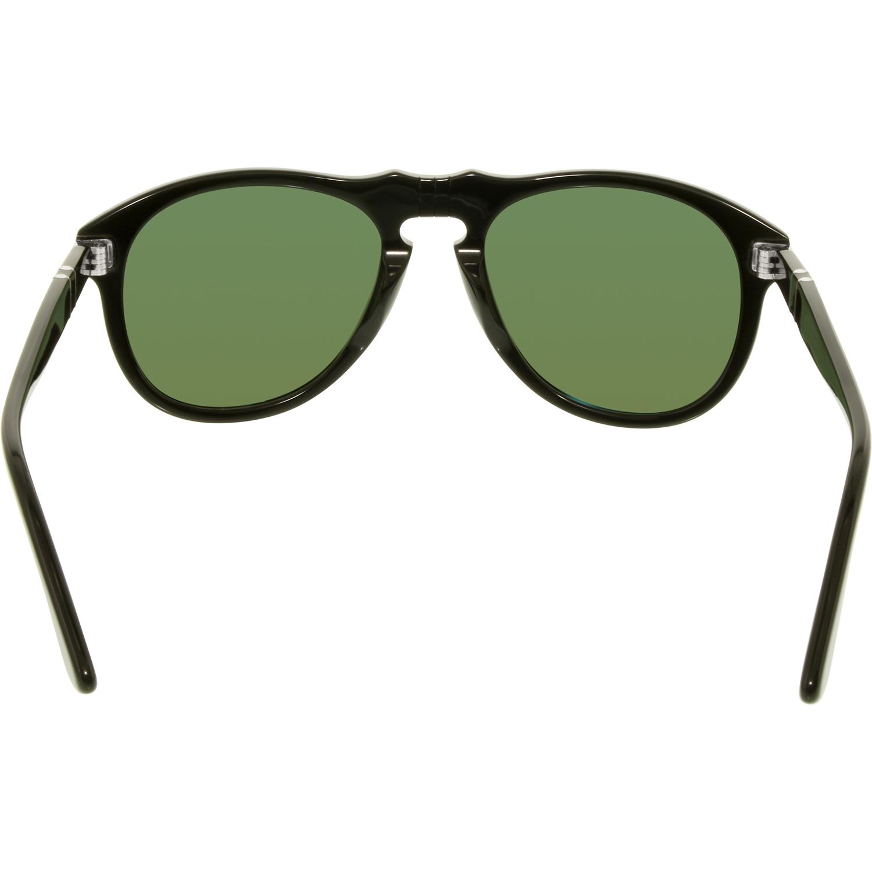 7ad95c87807a6 Persol - Men s Polarized PO0649-95 58-54 Black Aviator Sunglasses -  Walmart.com