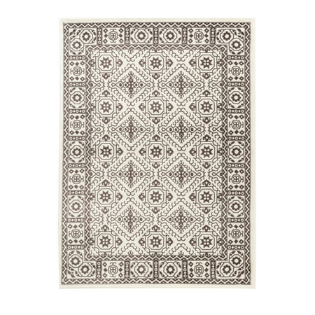 Summit Collection - Traditional White Brown Classic Area Rug Classic Collection Traditional Backplate