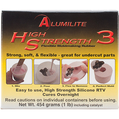 Alumilite High Strength 3 Liquid Mold Making Rubber, Pink, 1 lb