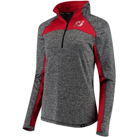New Jersey Devils Fanatics Branded Women's Static Quarter-Zip Jacket - Heathered Black