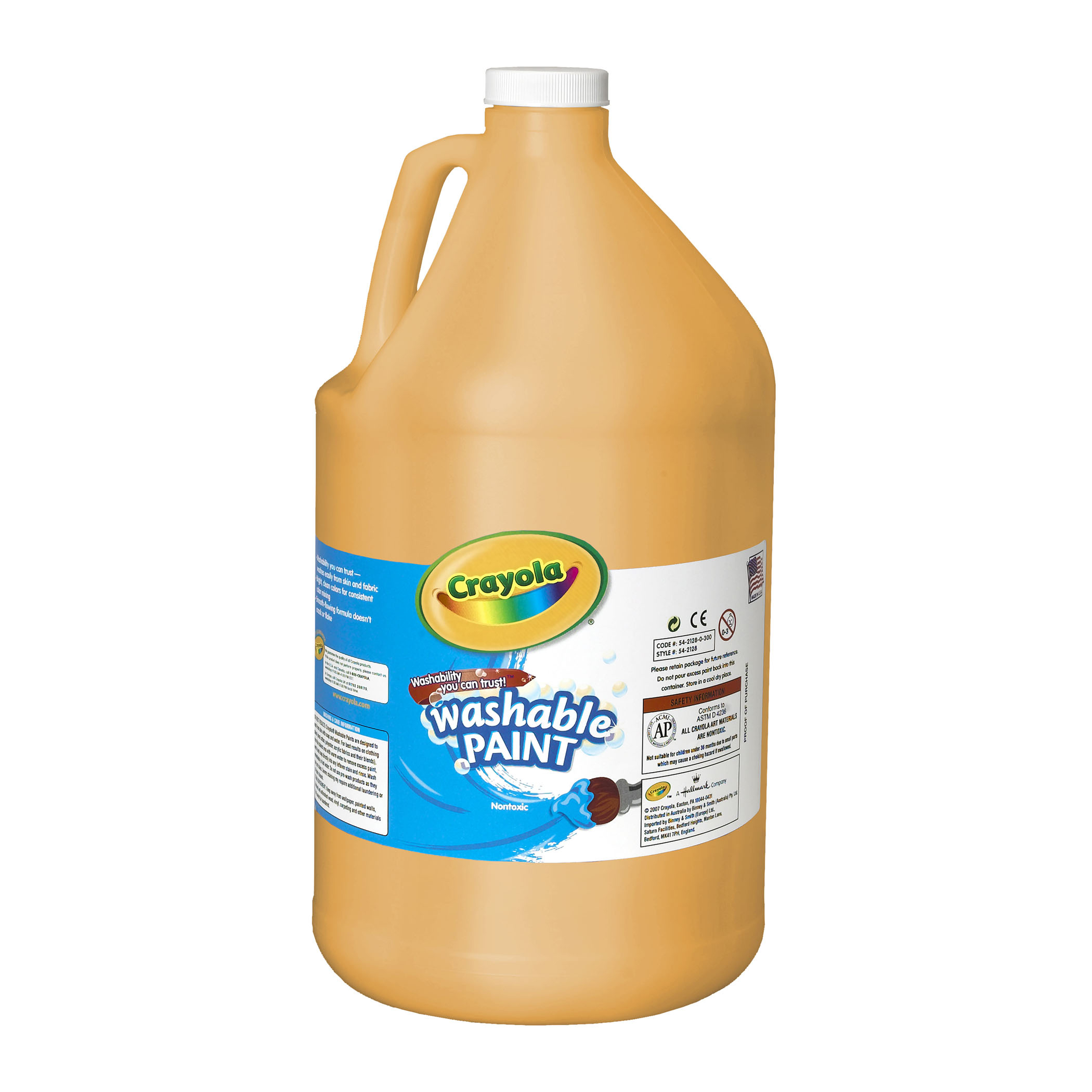Crayola Washable Paint, Peach, Gallon