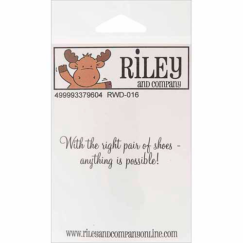 Riley & Company Funny Bones Cling Mounted Stamp-5-Sits Every Morning