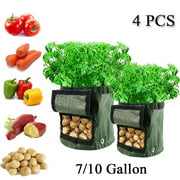 2/4PCS 7/10 Gallon Potato Grow Bag Vegetables Planter Bags Planting Gardening Accessory with Handles and Access Flap