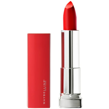Maybelline Color Sensational Made For All Lipstick, Red For Me, Matte Red Lipstick