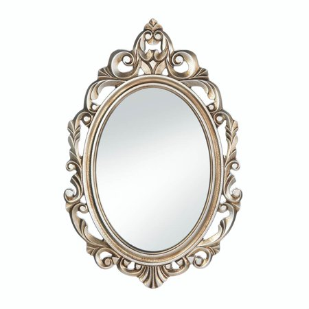 Wall Mirrors Decorative, Gold Royal Crown Bedroom Wall Mirror Round With Frame ()