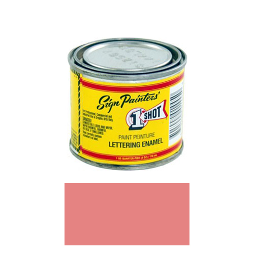 1/4 Pint 1 Shot SALMON PINK Paint Lettering Enamel Pinstriping & Graphic Art