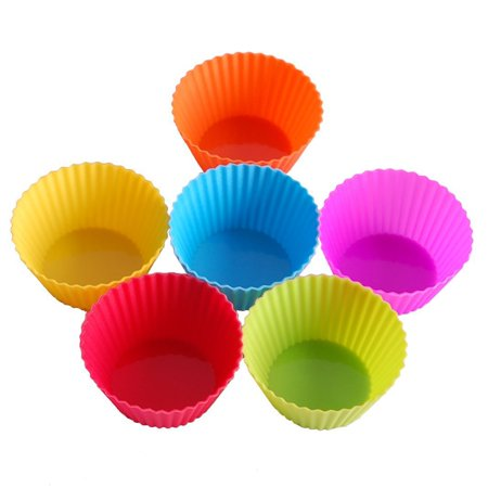 24-Pack Reusable Silicone Baking Cups Cupcake Liners - Muffin Cups Cake Molds - Halloween Mini Cupcake Liners