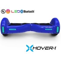 Hover-1 H1 UL Certified Electric Hoverboard w/ 6.5 Wheels, LED Lights, Bluetooth Speaker, and App Enabled - Blue