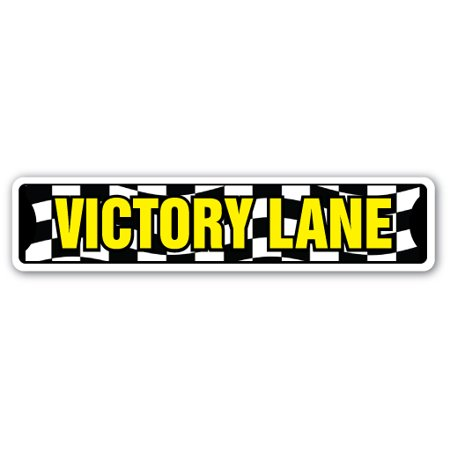 VICTORY LANE Street Sign winner racing car bike running | Indoor/Outdoor |  24