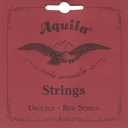86U Red Series, Ukulele Concert Low-G Tuning, Key of C - GCEA (Wound Red G), String Gauges in mm: 0.62, 0.80, 0.95, 0.97 By Aquila from USA