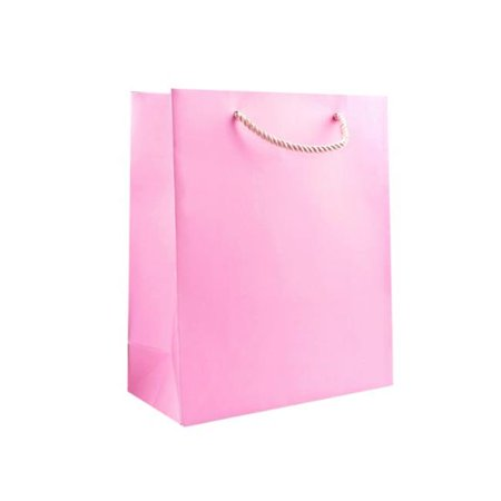 Kole Imports KL362-96 7 x 4 x 9.37 in. Medium Solid Pink Gift Bag - Pack of 96 - image 1 of 1